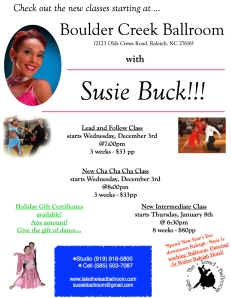 New Lead and Follow Class and New American Cha Cha Cha Class starting Wednesday, December 3rd!