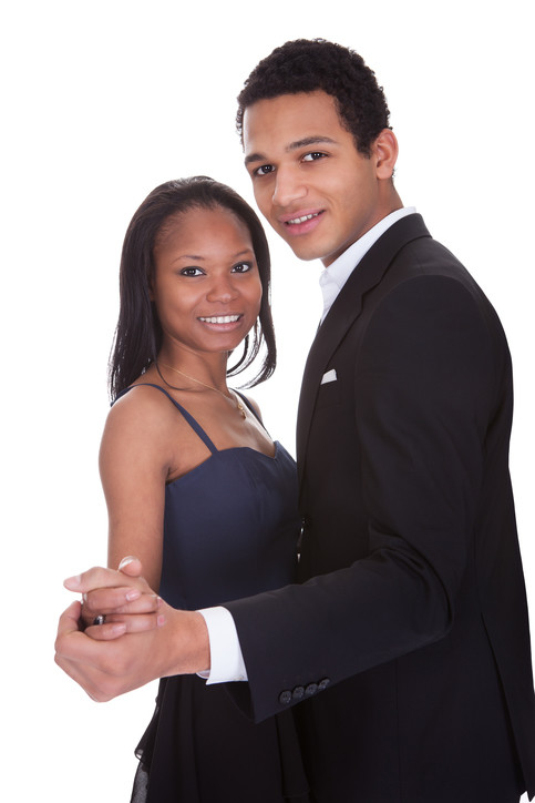Afro-Am couple Ballroom pose