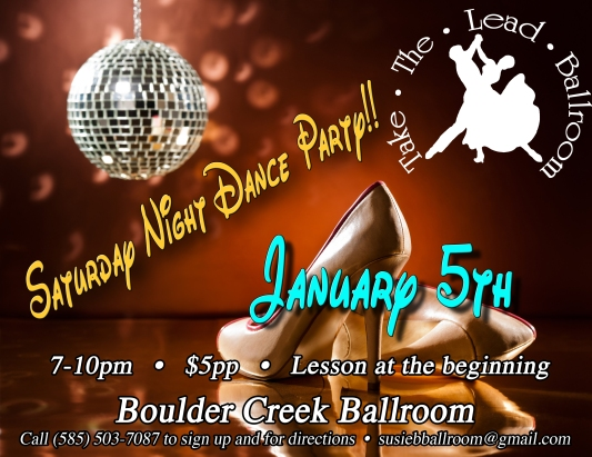 January Dance party Flyer