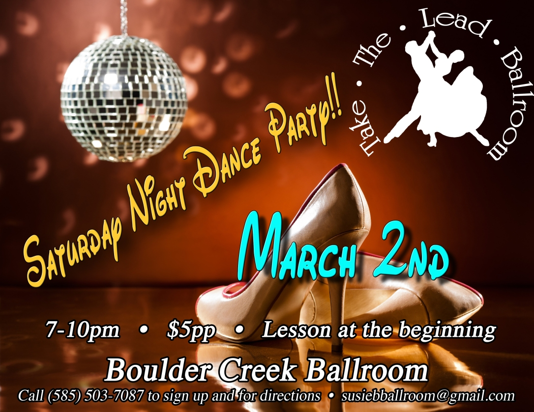 Dance party Flyer March